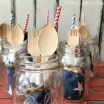 DIY 4th Of July Party Picnic Jars