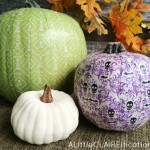 Scrapbook Paper Pumpkins and Fall Decor Inspiration