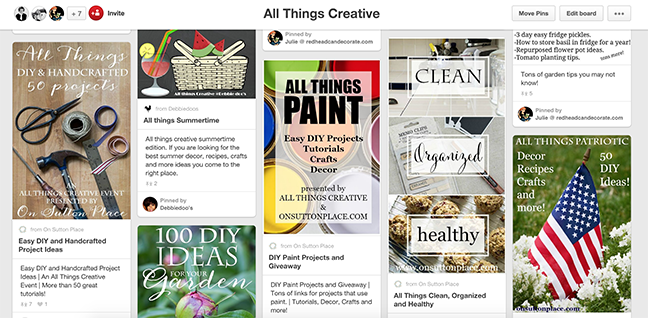 All Things Creative Pinterest Board