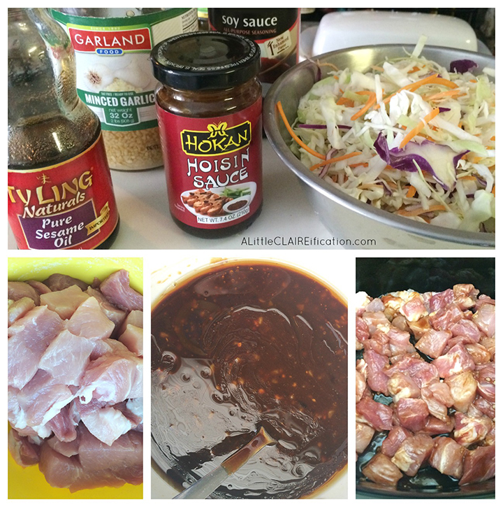 Easy Slow Cooker Moo Shu Pork Ingredients