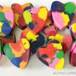 DIY Melted Crayon Kids Valentines with Free Printable