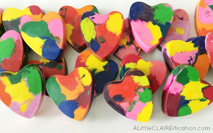 DIY Melted Crayon Kids Valentines - easy to make and kids can be hands on!