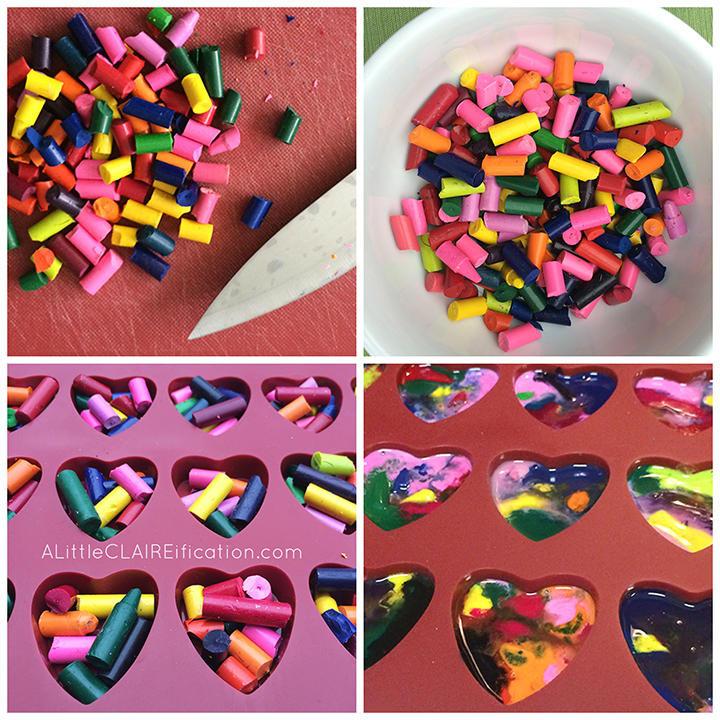 DIY Melted Crayon Kids Valentines