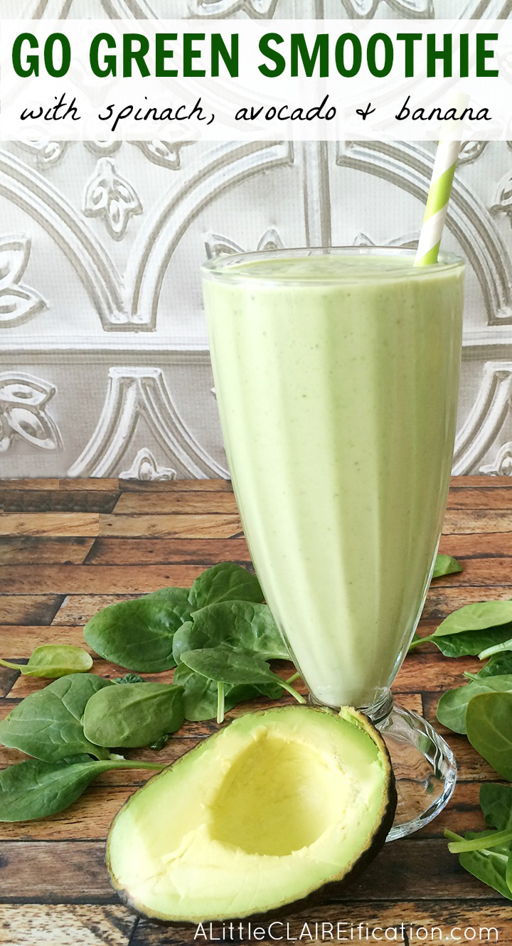 Go Green Smoothie - a healthy and delicious way to eat those greens. Inspired by Senses Spa Juice Bar on our Disney Cruise