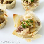 Philly Cheesesteak Wonton Cups | Quick Dinner Recipe
