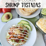 Easy Slow Cooker Shrimp Tostadas