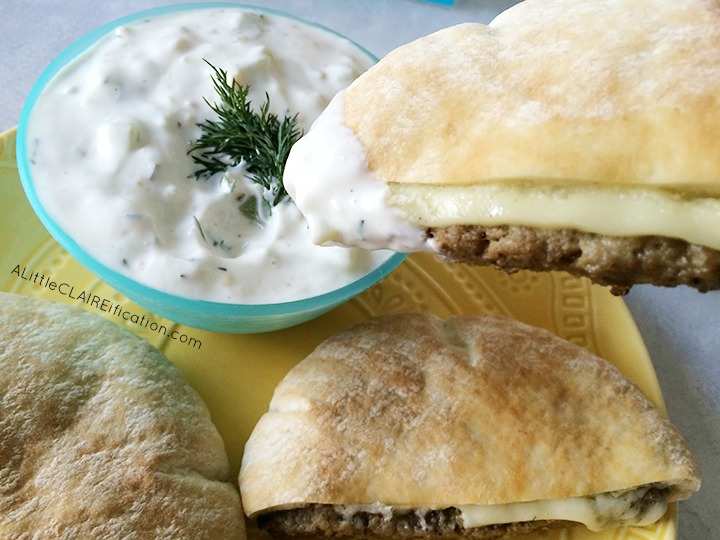 Tzatziki Sauce with Gyro Sliders - The Perfect Game Day Snack