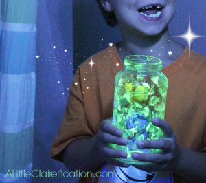 DIY Glittery Glow In The Dark Jars