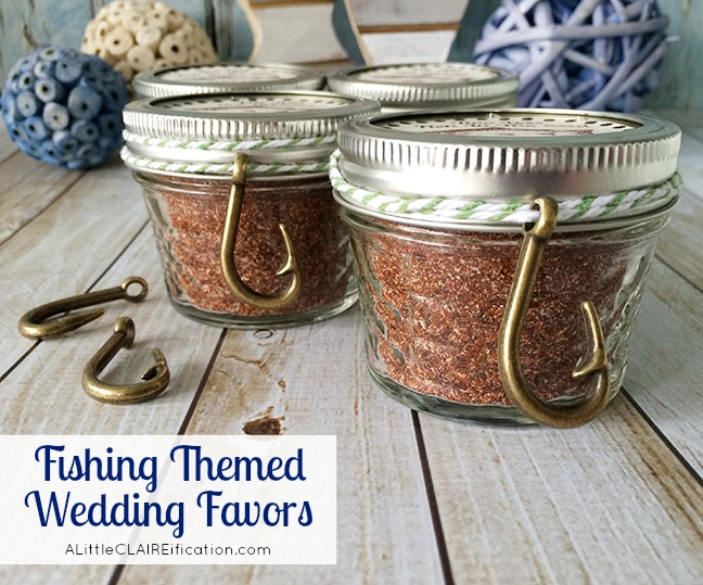 Fishing Themed Wedding Favors - Cajun Spice Fish Rub and free labels