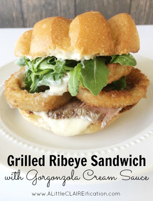 Grilled Ribeye Sandwich With Gorgonzola Cream Sauce