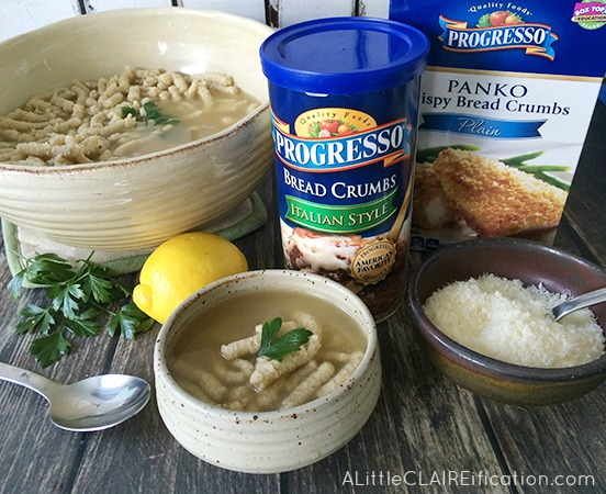 Passatelli en Brodo | Traditional Italian Dumpling Soup made easy!