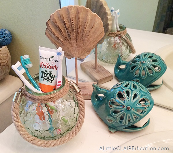 Beach Themed Bathroom A Small Space Makeover Giveaway A