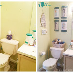Beach Themed Bathroom | A Small Space Makeover + Giveaway