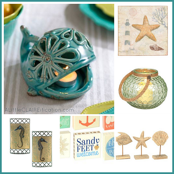 Beach themed bathroom a small space makeover giveaway for Space themed bathroom accessories