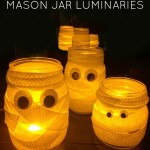 Mummy Mason Jar Luminaries | Halloween In A Jar