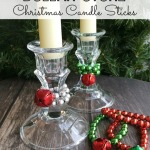 Easy Dollar Store Christmas Candle Sticks | Holiday Crafts