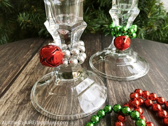 dollar store christmas candle sticks easy and inexpensive ways to decorate for the holidays - Dollar Store Christmas Crafts