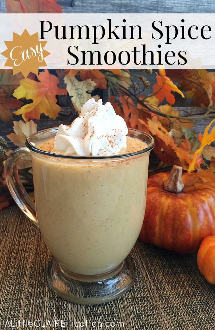 Easy Pumpkin Spice Smoothie - Delicious, full of fiber and lightly sweetened with maple syrup.