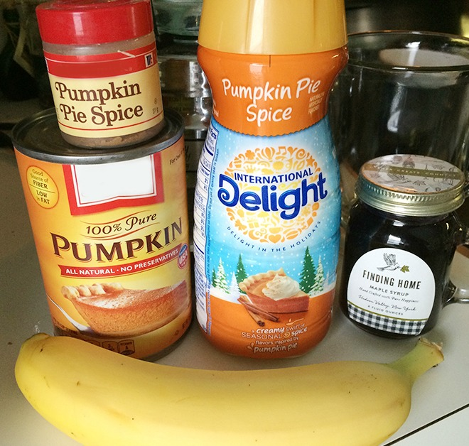 Easy Pumpkin Spice Smoothie Ingredients