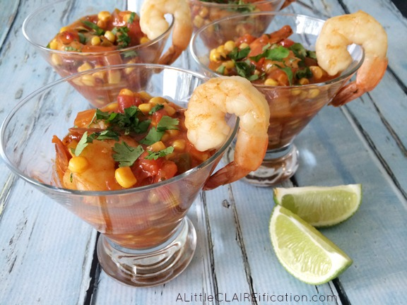 Warm Shrimp Ceviche Veracruz Recipe - A delicious meal or appetizer in about ten minutes!