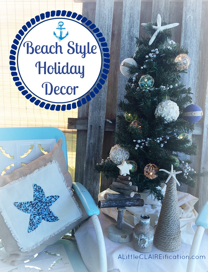 beach themed holiday patio decor - Beach Themed Christmas Decorations