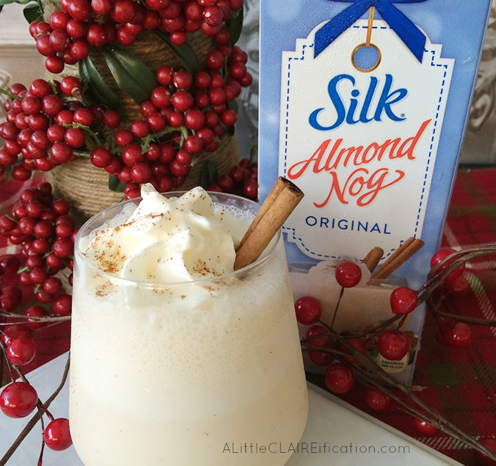 Dairy Free Almond Nog Smoothie - a perfect holiday treat for anyone and especially those who might be lactose intolerant! 4