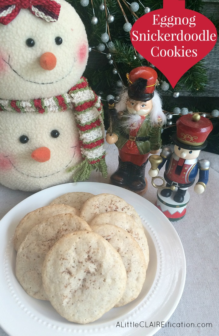 Eggnog Snickerdoodle Cookies - these are melt in your mouth delicious