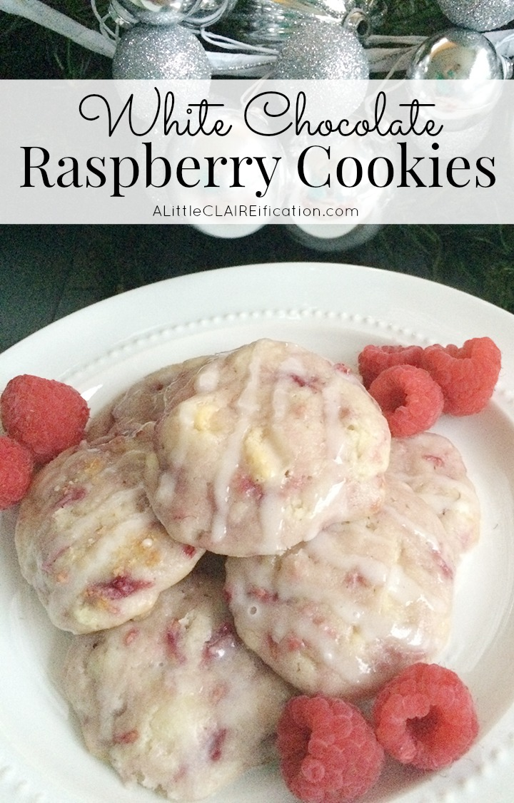 White Chocolate Raspberry Cookies  - Fresh raspberries make all the difference in these super moist delicious cookies!