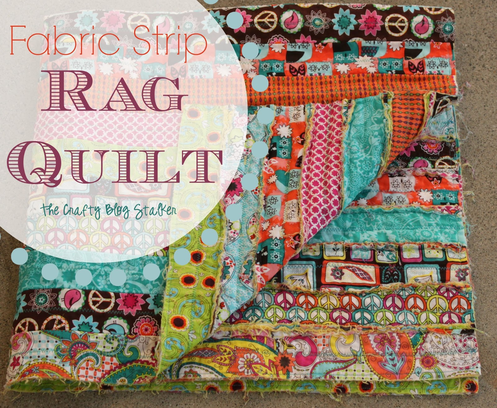 DIY Fabiric Strip Quilt and more at A LittleClaireification..com #linky #party #crafts