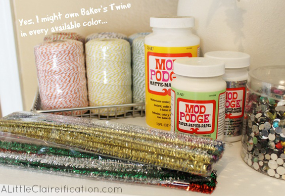 Craft Supplies: Organization Made Easy with A LittleClaireification.com #Organization #RubbermaidAllAccess #ad #crafts