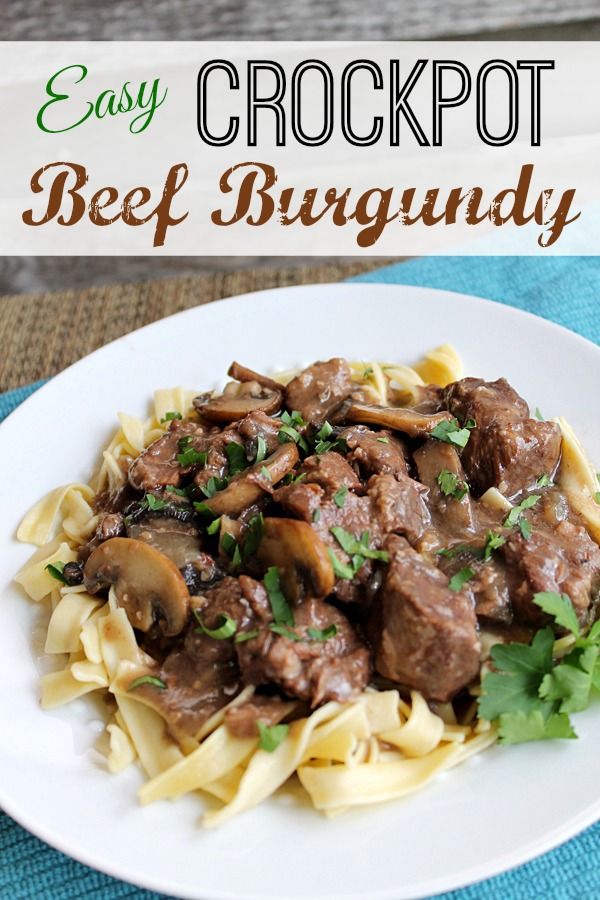 Easy CrockPot Beef Burgundy at ALittleClaireification.com #crockpot #slowcooker #recipe #beef