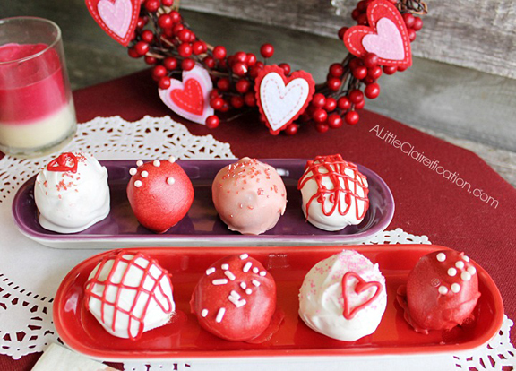 Chili Chocolate Valentine Truffles with ALittleClaireification.com #Recipes #Truffles #Valentines #Chocolate