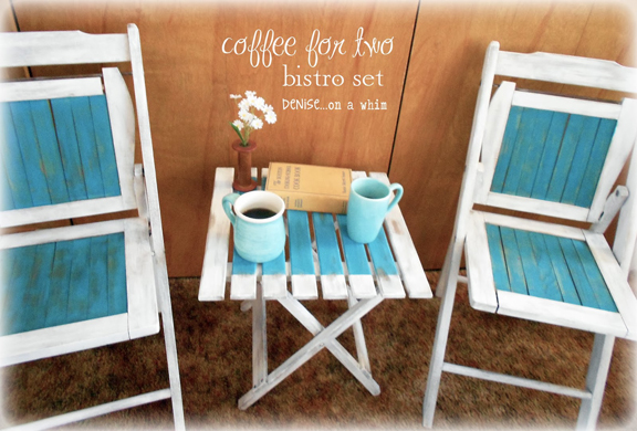 DIY Bistro Set Makeover & More - with A LittleClaireification.com #Party #Linky #Recipes #Crafts #DIY