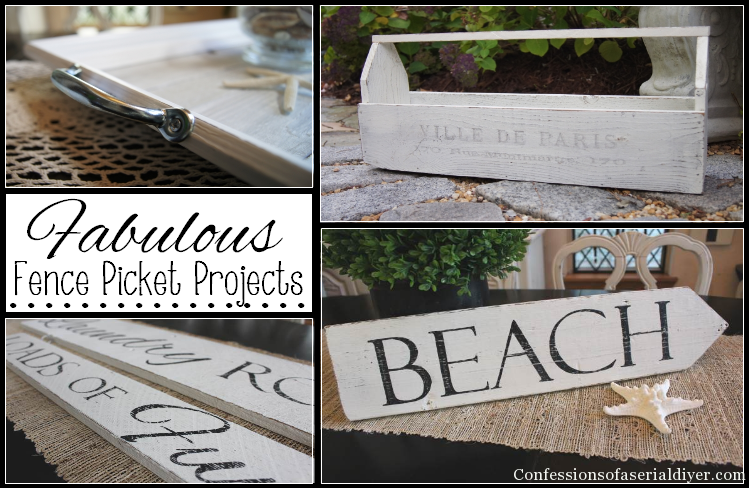 DIY Picket Fence Projects & More - with A LittleClaireification.com #Party #Linky #Recipes #Crafts #DIY