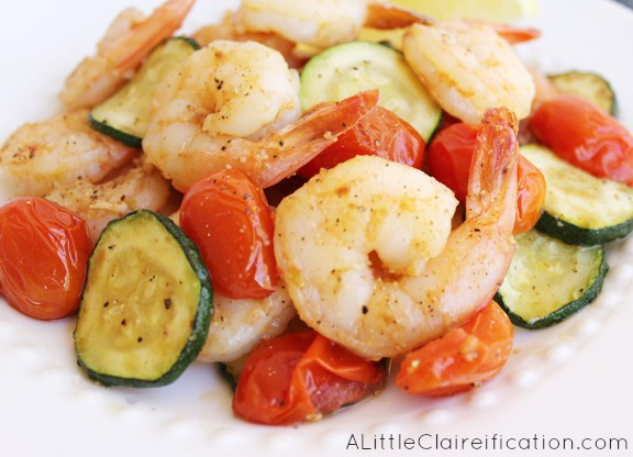 Healthy Sauteed Garlic Shrimp with Zucchini & Tomatoes at ...