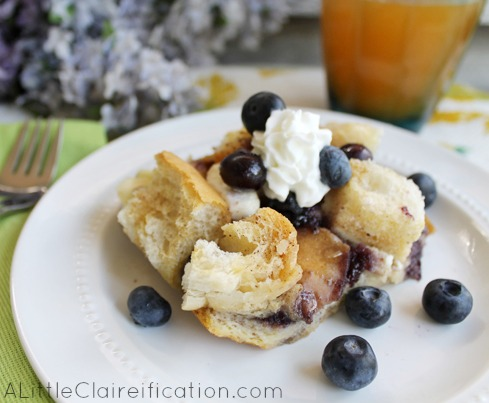 Blueberry French Toast Bake  - Easy Overnight Breakfast Casserole Ideas