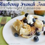 Easy Overnight Blueberry French Toast Casserole