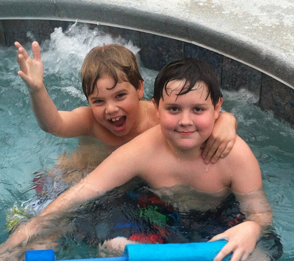 Boys In The Pool - Florida Life #vacation #poolside