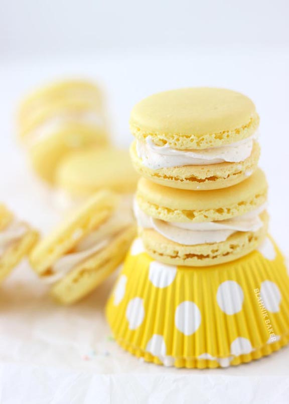 Delicious Lemon Macarons & More Spring Ideas at ALittleClaireification.com #recipe #DIY #Crafts