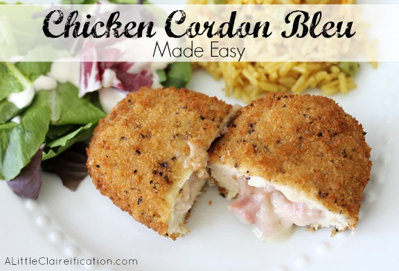 Chicken cordon bleu dinner made easy a little claireification chicken cordon bleu made easy at alittleclaireification forumfinder Image collections