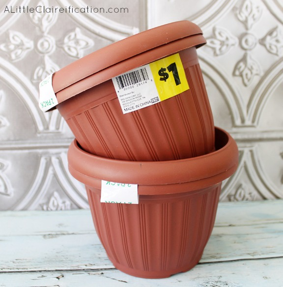 DIY 4th Of July Planters Dollar Store Crafts A Little