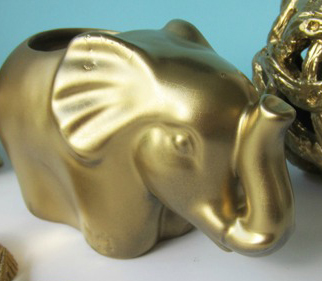 All that glitters diy gold home decor a little claireification Silver elephant home decor