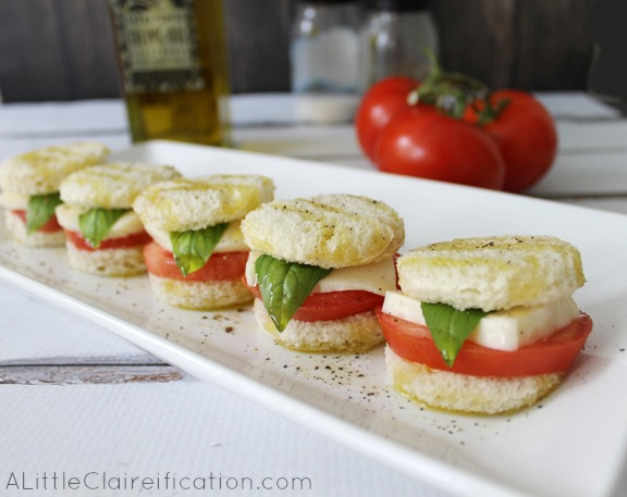 Caprese Mini Sandwiches Recipe Dishmaps