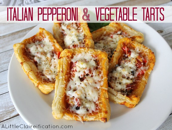 Italian Pepperoni & Vegetable Tarts by ALittleClaireification #recipe
