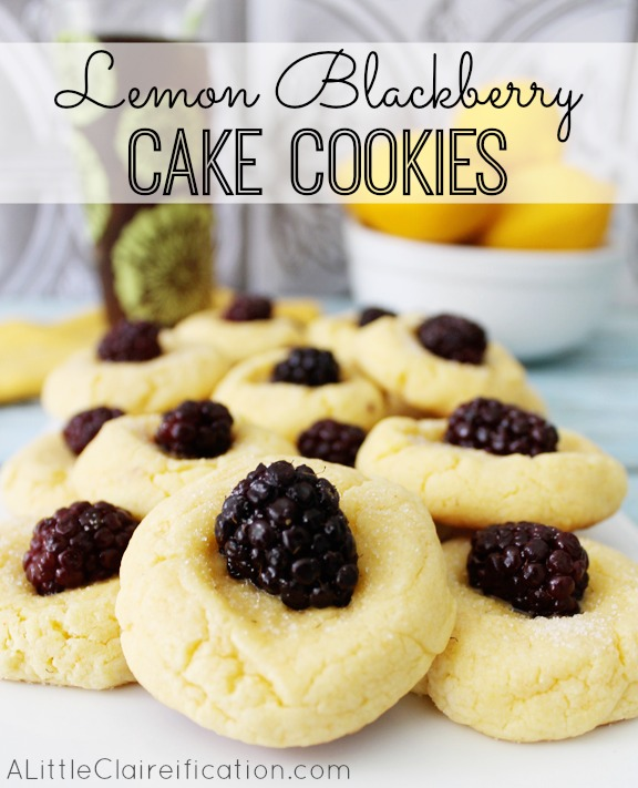 Lemon Blackberry Cookies at ALittleClaireification.com #recipe