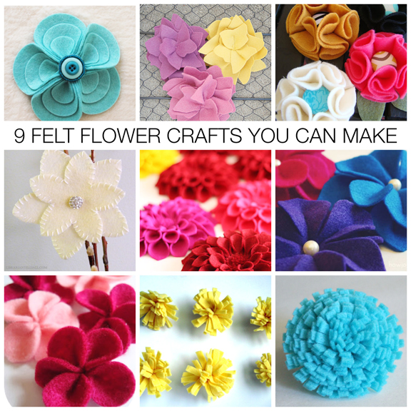 Nine Felt Flower Craft Ideas  You Can Make | Mother's Day Gifts & Gift Embellishments