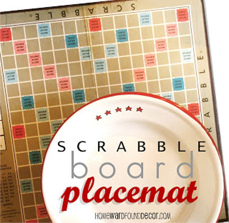 Scrabble Board Placemats and more fabulous features with ALittleClaireification.com #recipes #crafts #DIY