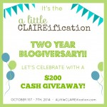 A Little CLAIREification Two Years Later | $200 Blogiversary Giveaway