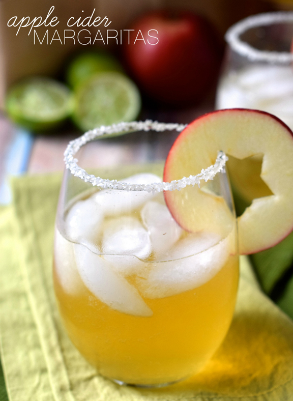Apple Cider Margaritas - a perfect Fall cocktail!