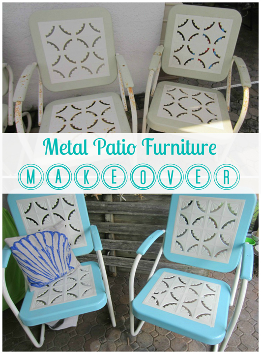 Metal Patio Furniture Makeover A